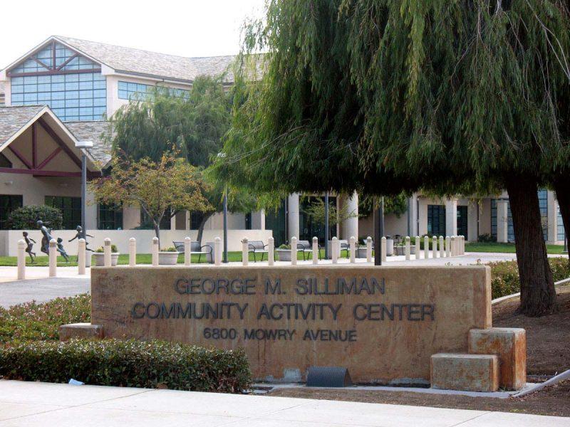 community center, trees, building